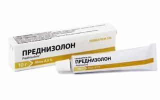 Мазь Преднизолона при дерматите: вид действия и инструкция по применению препарата
