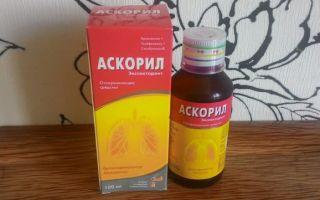 Детский сироп от кашля Аскорил: инструкция по применению и состав препарата