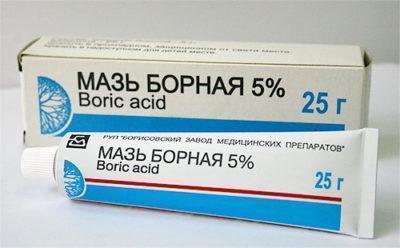 Примочки с борной кислотой при дерматите