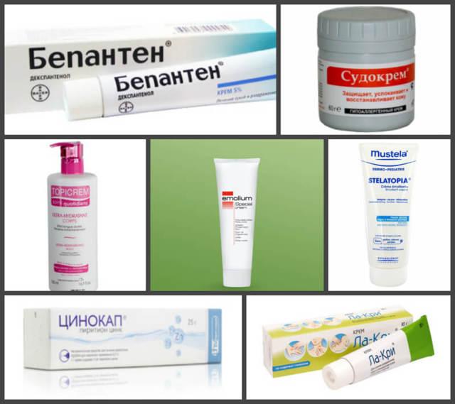 Дерматит у детей лечение мази и кремы для детей