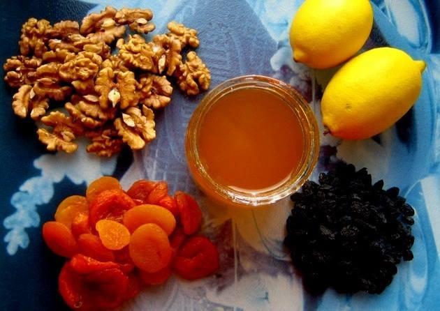 Рецепт для поднятия иммунитета грецкие орехи мед и курага детям