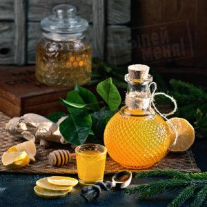 Настойка с имбирем и лимоном и медом для поднятия иммунитета