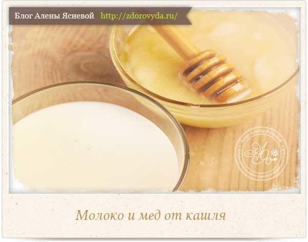 От кашля рецепт с молоком