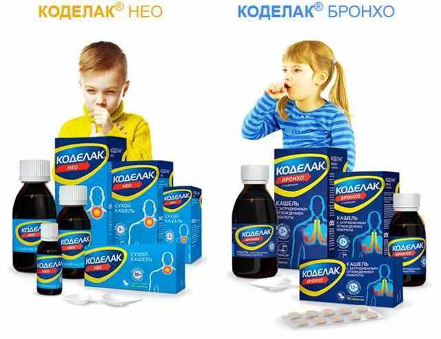 От кашля для детей коделак