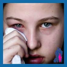 Гноятся глаза болит горло кашель
