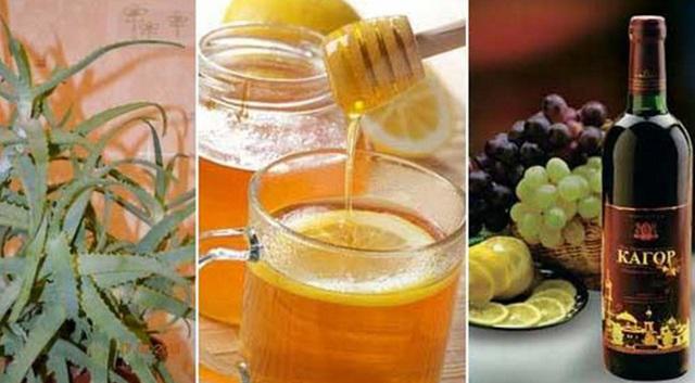 Настой из алоэ и меда и кагора для укрепления иммунитета