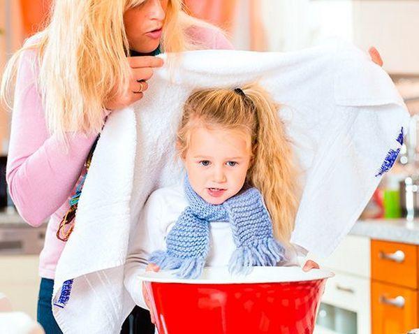 Чем ребенку подышать при кашле