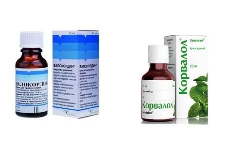 Корвалол или валокордин что лучше при повышенном давлении