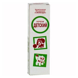 Детский крем с собачкой и кошечкой при дерматите